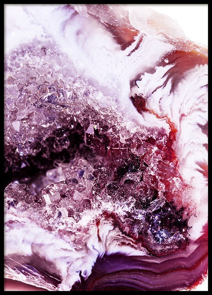 Abstract Agate No2 Poster