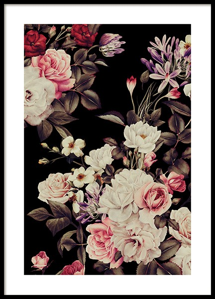 Vintage Roses Poster in the group Posters & Prints / Art prints at Desenio AB (12093)