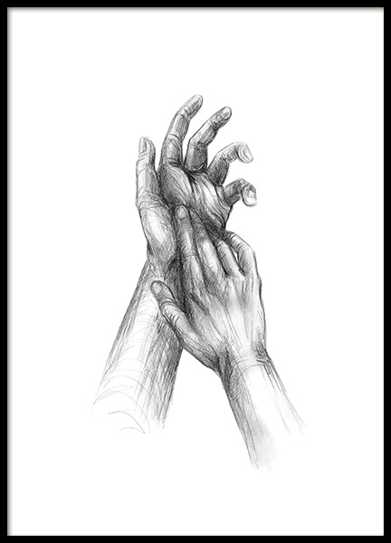 Your Hands Sketch Poster in the group Posters & Prints / Sizes / 50x70cm | 20x28 at Desenio AB (12133)