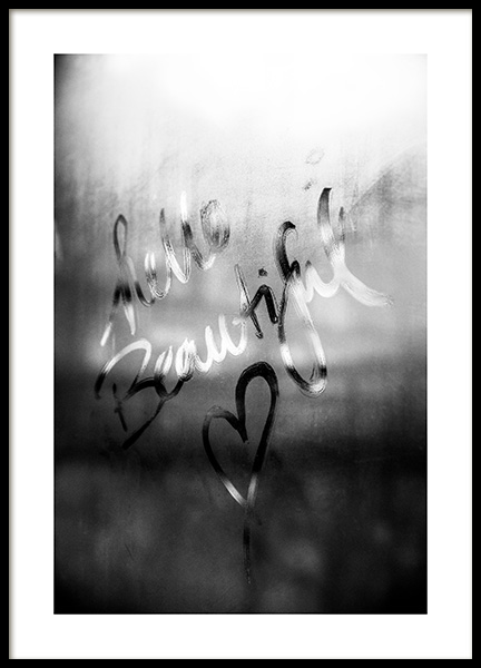 Message on a Window Poster in the group Posters & Prints / Black & white at Desenio AB (12168)