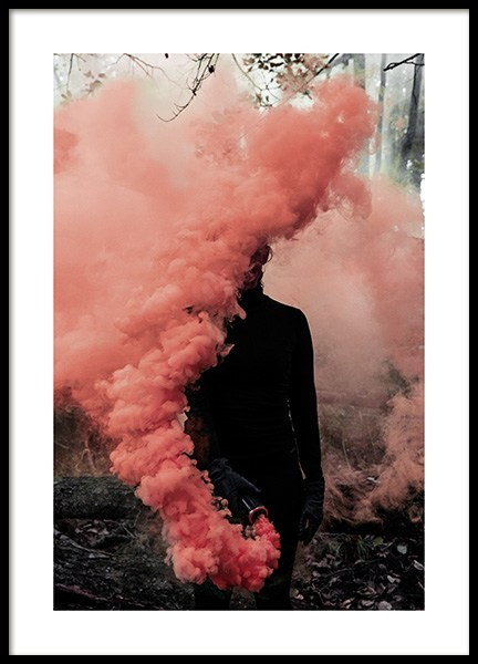 "Coral Smoke Poster in the group Posters & Prints / Sizes / 50x70cm | 19 	¾ x 27 ½"" at Desenio AB (12177)"