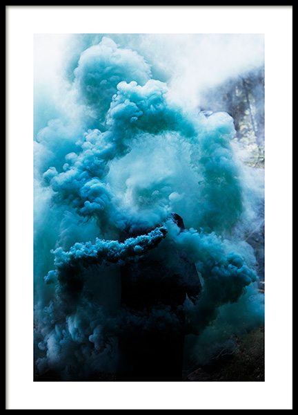Blue Swirl Poster in the group Posters & Prints at Desenio AB (12185)