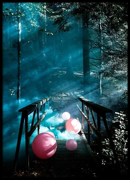 Balloon Bridge Poster