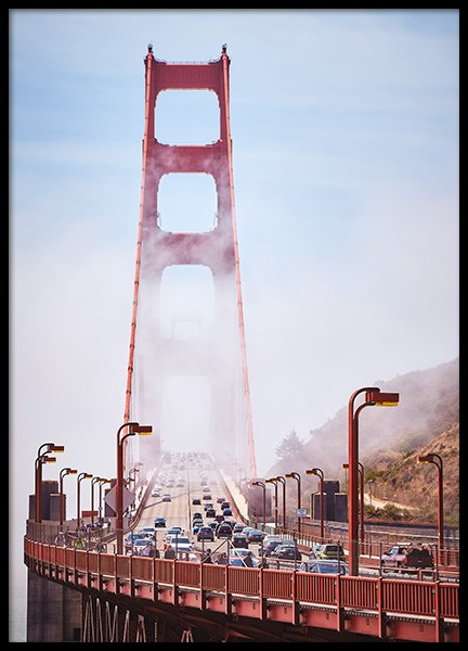 Golden Gate Poster in the group Posters & Prints / Nature at Desenio AB (12204)