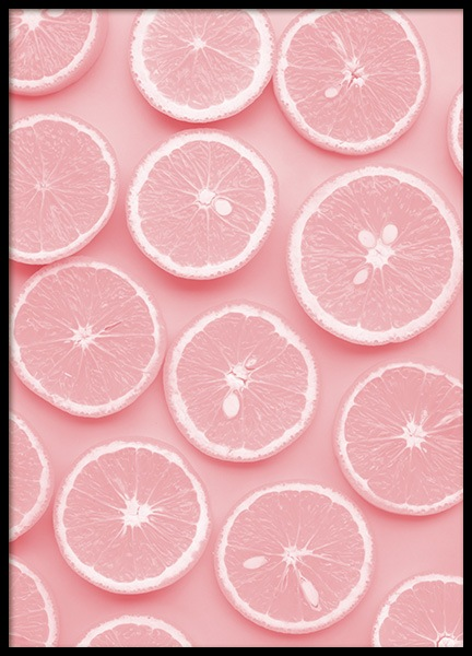 Pink Slices Poster in the group Posters & Prints / Kitchen at Desenio AB (12229)