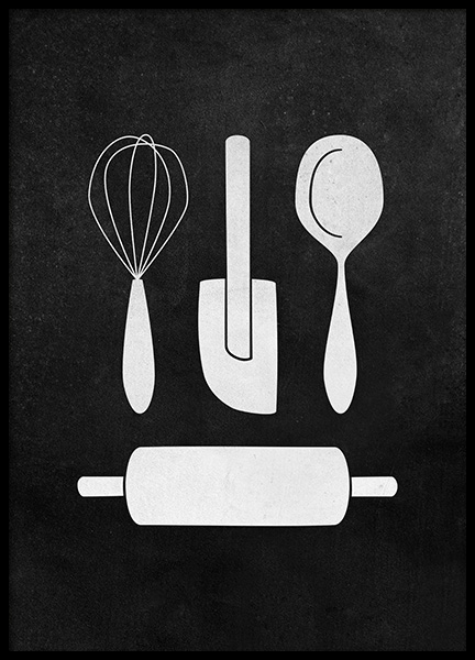 Kitchenware Poster in the group Posters & Prints / Kitchen at Desenio AB (12251)