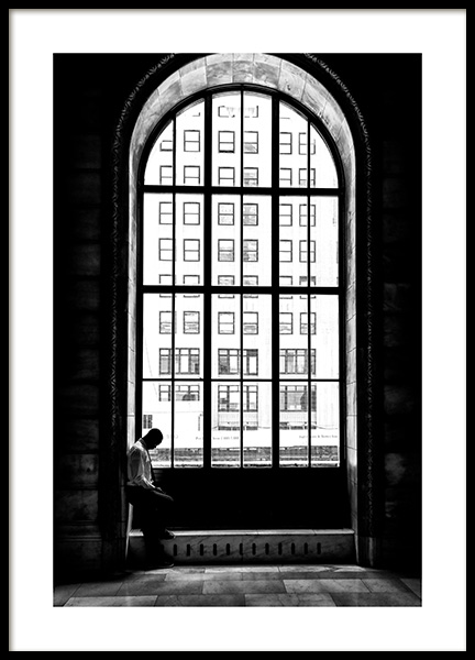 Man at the Window Poster in the group Posters & Prints / Black & white at Desenio AB (12288)