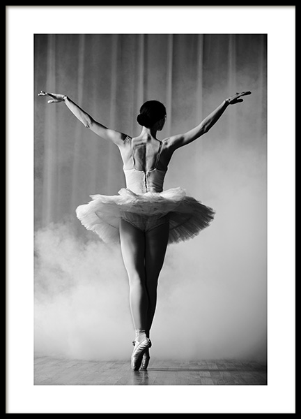 Ballerina in Tutu Poster in the group Posters & Prints / Black & white at Desenio AB (12290)