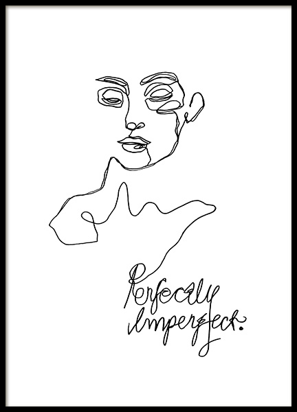 Imperfect Line Art Poster in the group Posters & Prints / Illustrations at Desenio AB (12359)