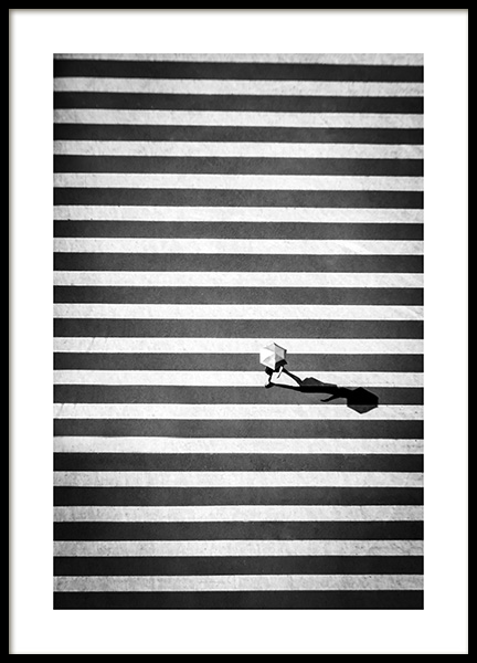 Zebra Crossing Poster in the group Posters & Prints / Black & white at Desenio AB (12383)