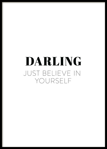 Darling Believe Poster in the group Posters & Prints / Typography & quotes at Desenio AB (12389)