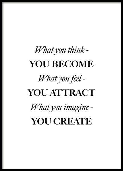 What You Think Poster in the group Posters & Prints / Text posters at Desenio AB (12394)