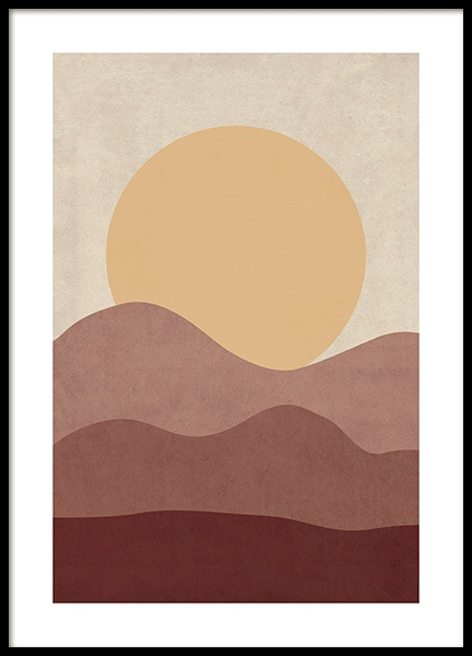Sunrise Illustration Poster in the group Posters & Prints / Nature at Desenio AB (12400)