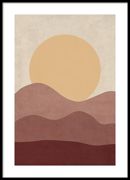 Sunrise Illustration Poster