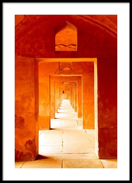Orange Arches Poster