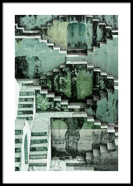 Stepwell Poster in the group Posters & Prints / Sizes / 50x70cm | 20x28 at Desenio AB (12408)