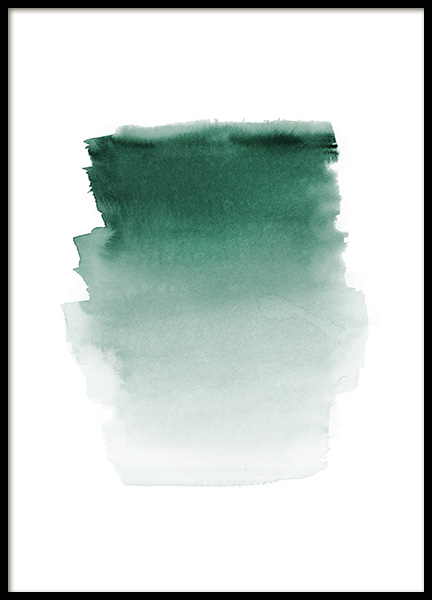 Green Watercolor Poster