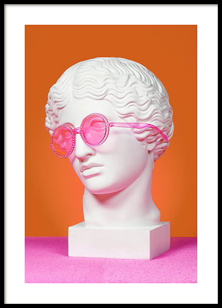 Greek God in Glasses Poster in the group Posters & Prints / Sizes / 50x70cm | 20x28 at Desenio AB (12413)