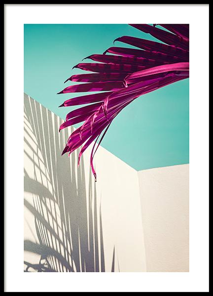 Purple Palm Leaf Poster