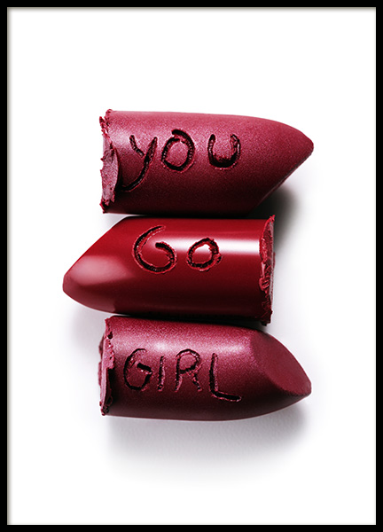 You Go Girl Lipstick Poster in the group Posters & Prints / Photography at Desenio AB (12443)