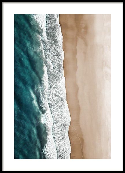 Rushing Sea Waves Poster in the group Posters & Prints / Nature at Desenio AB (12459)