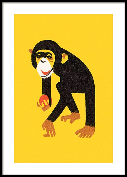 Vintage Monkey Poster in the group Posters & Prints / Kids posters at Desenio AB (12468)