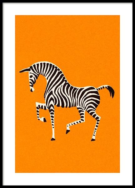 Vintage Zebra Poster in the group Posters & Prints / Kids posters at Desenio AB (12470)
