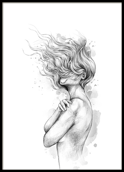 Girl In The Wind Poster in the group Posters & Prints / Art prints at Desenio AB (12492)