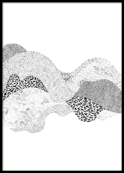 Dotted Waves No2 Poster in the group Posters & Prints / Art prints at Desenio AB (12498)