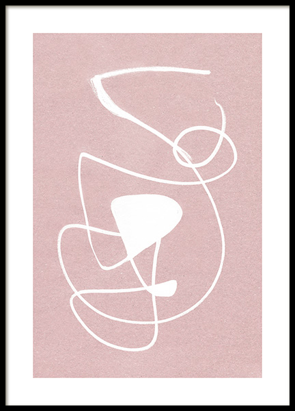 White Ink Strokes Poster in the group Posters & Prints / Art prints at Desenio AB (12511)