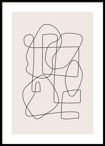Abstract Lines Poster in the group Posters & Prints / Art prints at Desenio AB (12520)