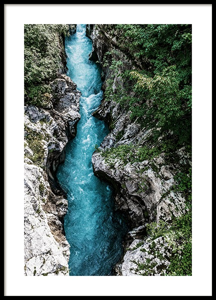 The Soca River Poster in the group Posters & Prints / Nature at Desenio AB (12536)