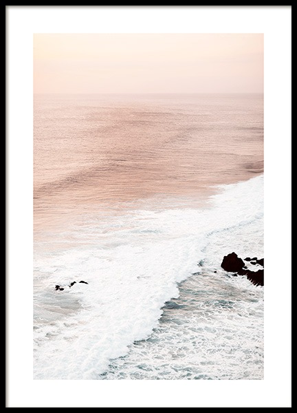 Soft Waves Poster in the group Posters & Prints / Sizes / 50x70cm | 20x28 at Desenio AB (12540)