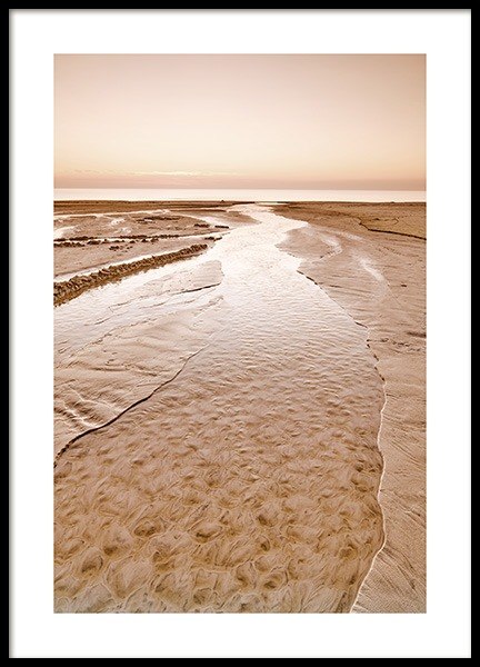Beige Beach Poster in the group Posters & Prints / Nature at Desenio AB (12542)