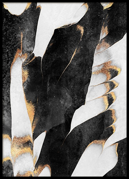 Black And Gold Veins No1 Poster in the group Posters & Prints / Handpicked / Elisabeth Fredriksson at Desenio AB (12549)