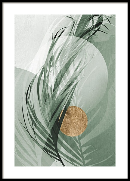 Graphic Palm Leaf No1 Poster in the group Posters & Prints / Photography at Desenio AB (12587)