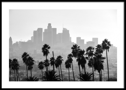 Los Angeles Cityscape Poster in the group Posters & Prints / Black & white at Desenio AB (12595)