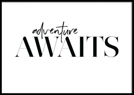 Adventure Awaits Poster in the group Posters & Prints / Typography & quotes at Desenio AB (12605)