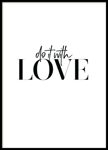 Do it with Love Poster
