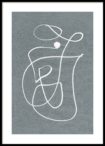 Fine Curvy Lines Poster in the group Posters & Prints / Art prints at Desenio AB (12612)
