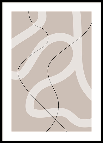 Thin and Bold Lines Poster in the group Posters & Prints / Art prints at Desenio AB (12615)