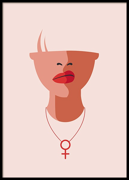 Venus Necklace Poster in the group Posters & Prints / Sizes / 50x70cm | 20x28 at Desenio AB (12634)