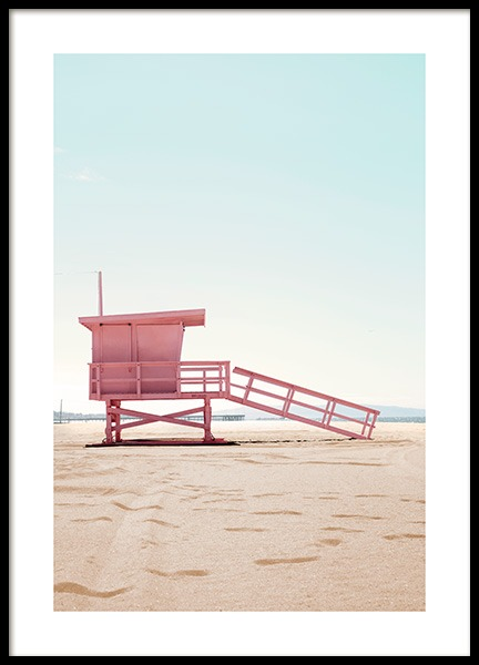 Lifeguard Hut Poster in the group Posters & Prints / Nature at Desenio AB (12635)