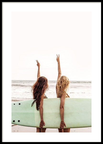 Surfer Girls Poster in the group Posters & Prints / Nature at Desenio AB (12637)
