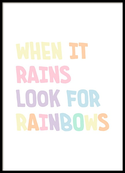 Look for Rainbows Poster in the group Posters & Prints / Kids posters at Desenio AB (12682)