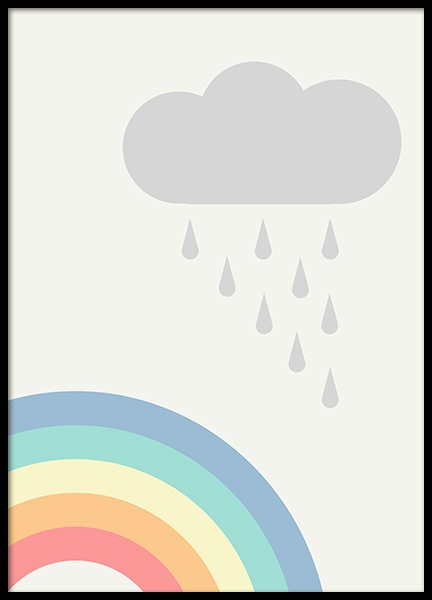 Rainbows and Clouds Poster in the group Posters & Prints / Sizes / 30x40cm | 12x16 at Desenio AB (12687)