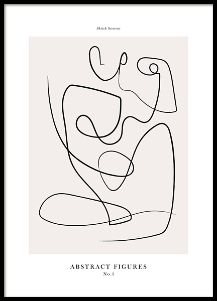 Abstract Figures No1 Poster in the group Posters & Prints / Art prints at Desenio AB (12694)