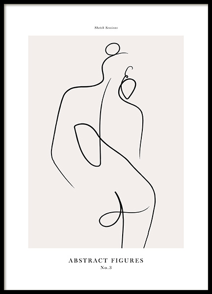 Abstract Figures No3 Poster in the group Posters & Prints / Art prints at Desenio AB (12696)