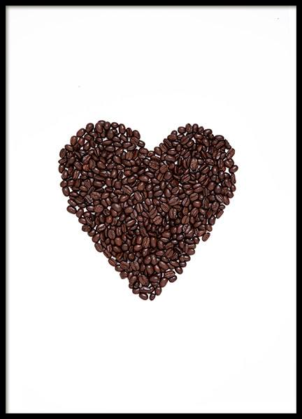 Coffee Heart Poster in the group Posters & Prints / Kitchen at Desenio AB (12714)