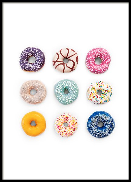 Sweet Donuts Poster in the group Posters & Prints / Kitchen at Desenio AB (12716)